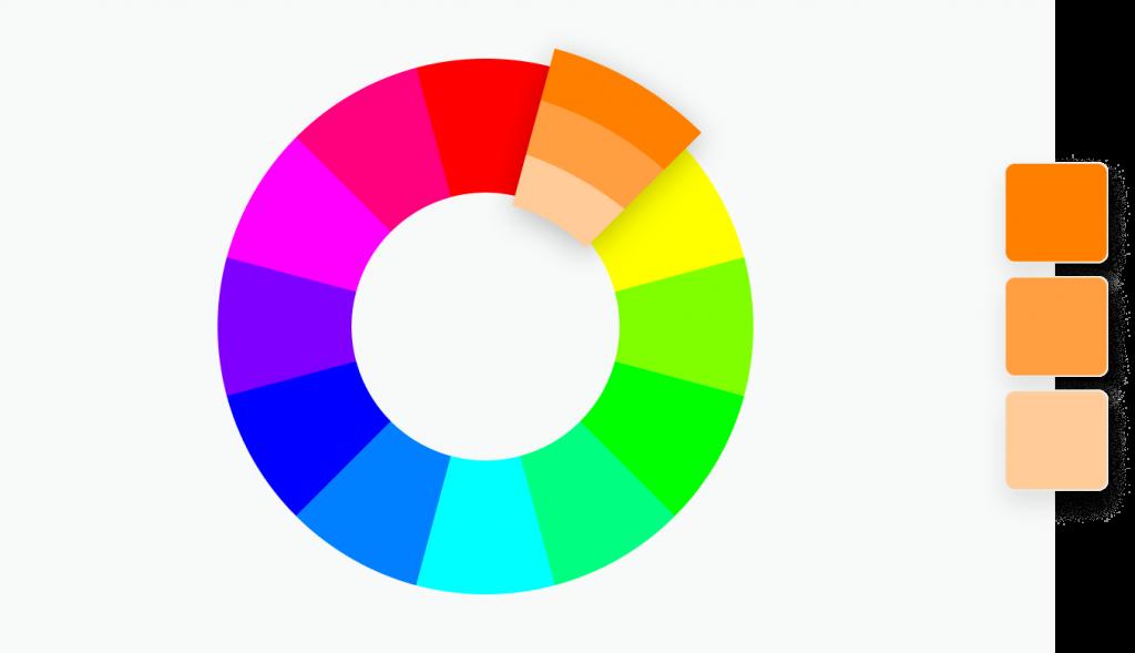 Monochromatische farben