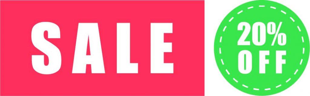 """""""Sale"""" Schilder in rot und grün"""