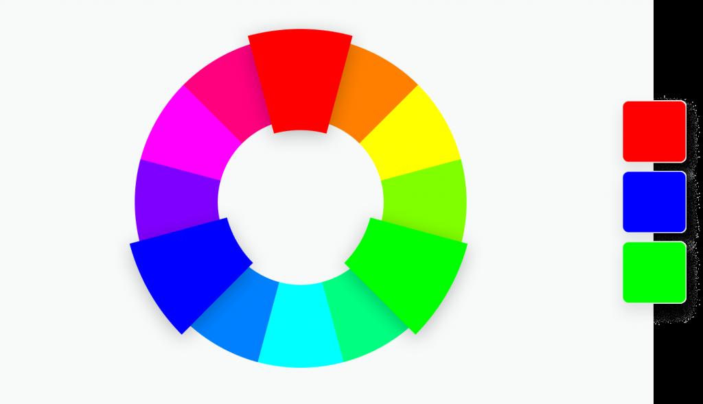 3 verschiedene farben