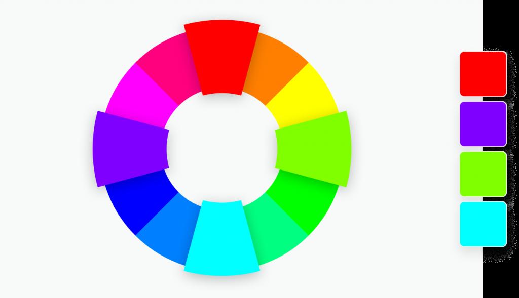 4 Unterschiedliche farben